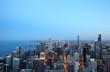 Chicago Skyline zur Blauen Stunde