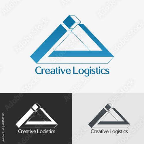 Triangle impossible logo design template.