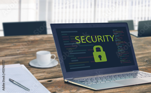 Fotografie, Obraz  Security Online Website Web Hosting Technology Concept