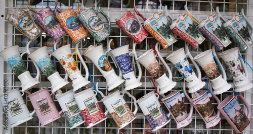 Fotografie, Obraz  Shop counter with cups in karlovy vary