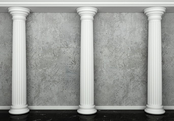 Naklejka Classic interior with column