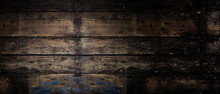 Old Rustic Wooden Panoramic Ba...