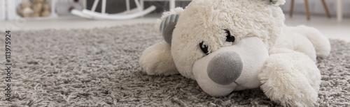Obraz na plátně  This teddy bear belongs to baby