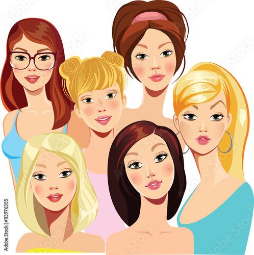 In de dag Kinderkamer face of beautiful girls
