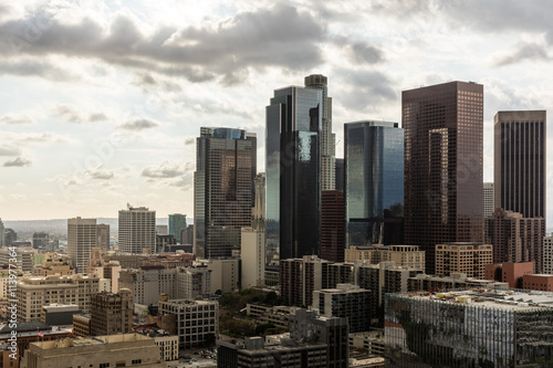 Foto auf Leinwand Los Angeles Skyscrapers in Los Angeles Downtown