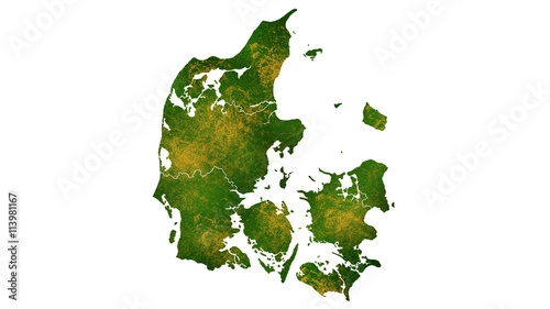 Fotografía Denmark map Europe continent tropical map texture