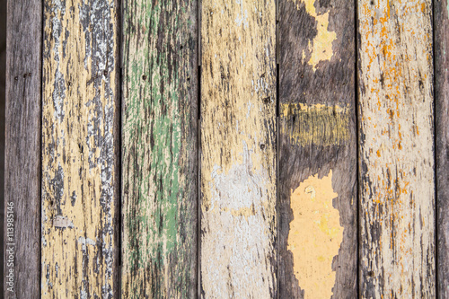 Foto op Plexiglas Wand old wood planks texture background