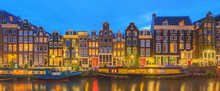 Amstel River, Canals And Night...