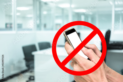 Photo  No phone in working office