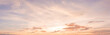 canvas print picture - panorama sunset sky
