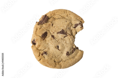 Chocolate Chip Cookie - Bite Taken Poster