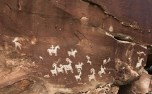 Rock Art Panel Petroglyphs Arches National Park Moab Utah