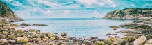 Panorama Of Coast In Summer