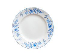 Plate, Decorated With Blue Flo...