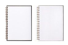 Blank Notebook Or Notepad With Line Paper
