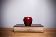 Holy Bible With Apple