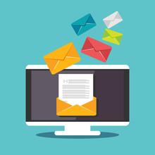 Email Illustration. Sending Or...