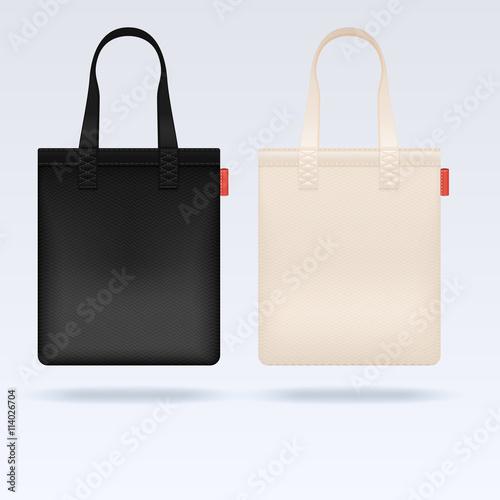 Mockup Set Reaic Ping Bag Branding Stock Vector 763317091
