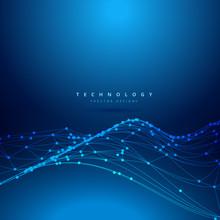 Technology Digital Mesh Wave