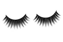 Close Up A New Eyelashes, False Eyelashes For Woman Eyes Isolated On White Background With Copy Space