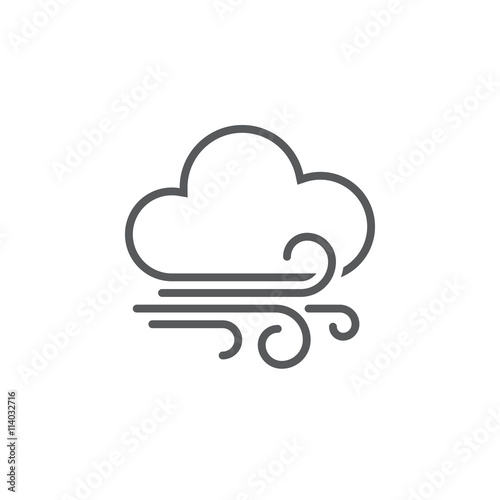 Fotografia  wind and clouds weather icon