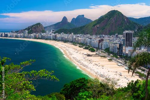Poster Brésil Copacabana beach in Rio de Janeiro, Brazil