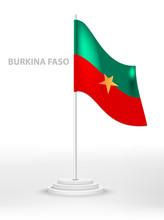 National Waving Flag Of Burkin...