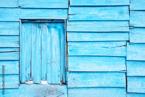 Blue planks wall background Wallpaper Mural