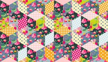 Seamless Vector Pattern. Beautiful Patchwork Background.