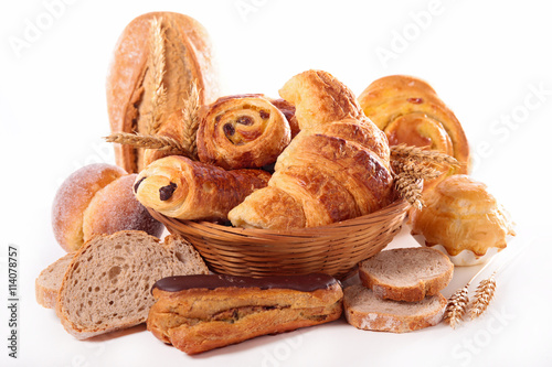Tuinposter Brood assorted bread and pastry