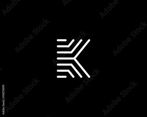 Line Letter K Logotype Abstract Moving Airy Logo Icon Design Ready