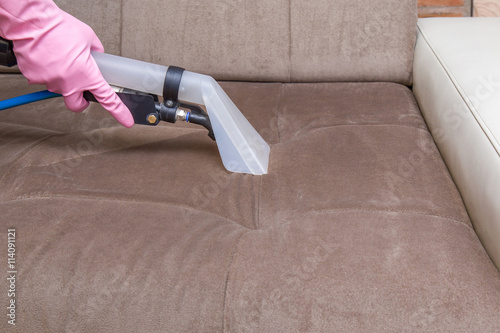 Sofa Chemical Cleaning With Professionally Extraction Method Upholstered Furniture Early Spring Or Regular