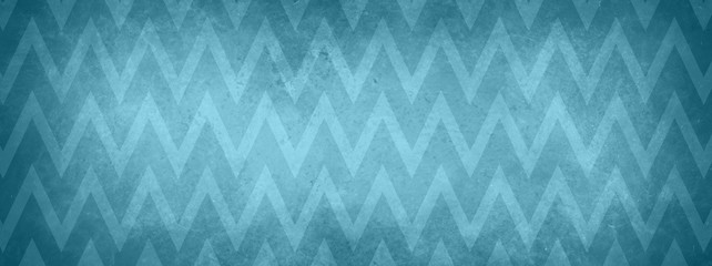 Fototapeta Grunge blue chevron striped pattern background with vintage texture