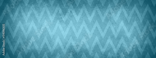 blue chevron striped pattern background with vintage texture