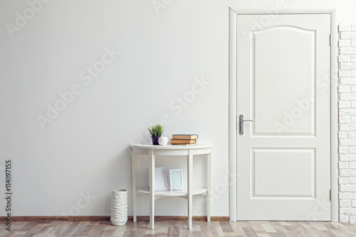 Photo Room design interior with closed door