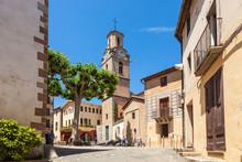 Arbucies Town Square, Catalonia, Spain