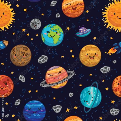 wzor-dzieciecy-ze-sloncem-planetami-i-gwiazdami