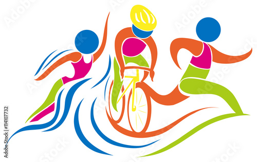 Photo Triathlon icon in colors