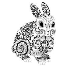 High Detail Patterned Rabbit I...