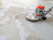 canvas print picture - scrubber machine for cleaning floor