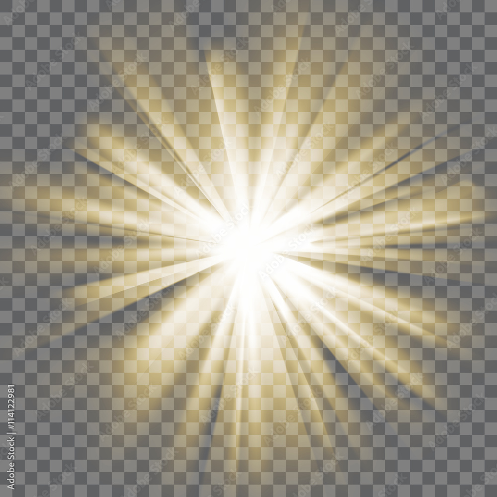 Fototapeta Glowing light burst