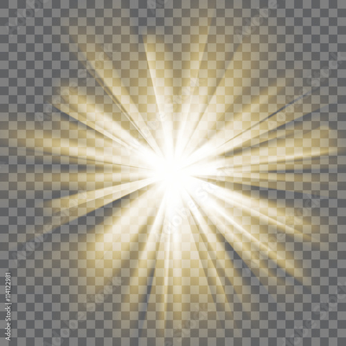 Fotografie, Obraz Glowing light burst