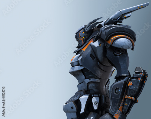 Foto  3d rendering of the mech