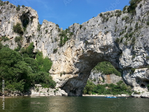 In de dag Rivier Pont d' Arc an der Ardeche