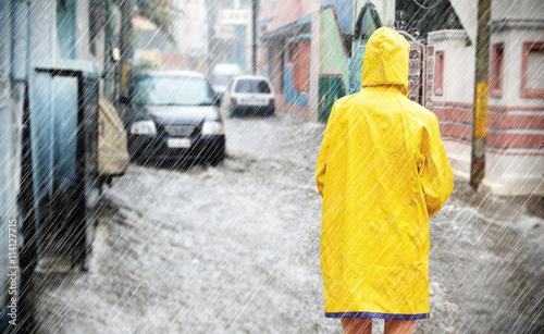 Fotografía Hochwasser in der Stadt
