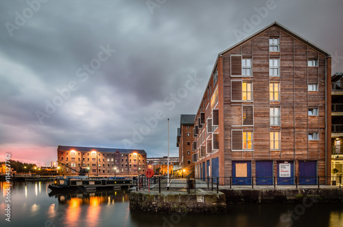 Fotografie, Obraz  Gloucester Docks at dusk
