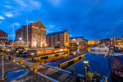 Photo  Gloucester Docks at dusk