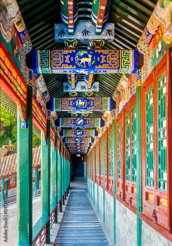 Corridor in the Summer Palace in Beijing