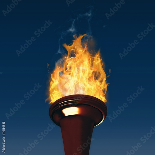 Composite image of the olympic fire Fototapet
