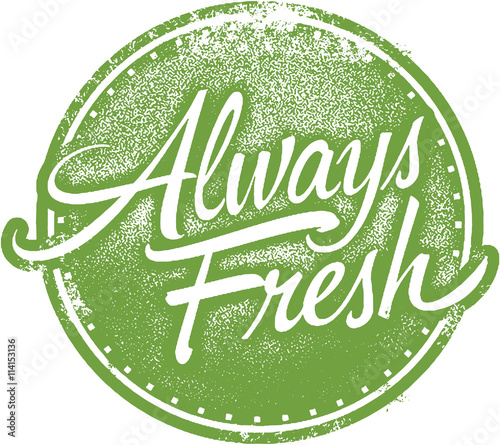 Photo Always Fresh Product Rubber Stamp